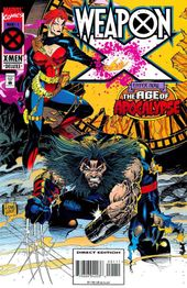 Cover to Weapon X #1, Featuring Weapon X and Jean in Age of Apocalypse. Art by Adam Kubert.