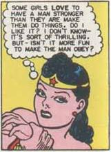 "Wonder Woman shows her ""dominant"" side ."